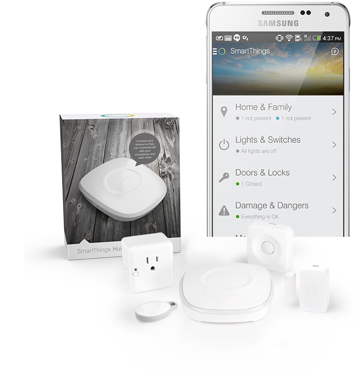 iPhone with SmartThings Free App